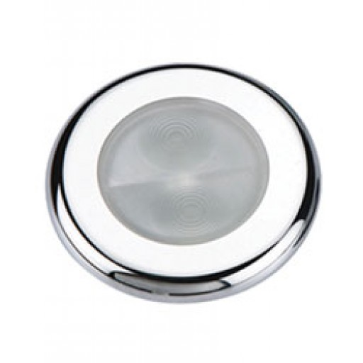 Aqua Signal Bogota Round White LED Light w/ Stainless Cover