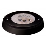 Oval White LED Push Lens Cabin Light Black Case