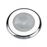 Aqua Signal Bogota Round White LED Light w/ Stainless Cover