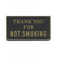 Bernard Engraving Plaque No Smoking - Black