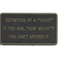 Bernard Engraving Definition of A Yacht