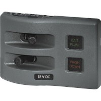 Blue Sea Fuse Panel 2 Position WeatherDeck - Gray