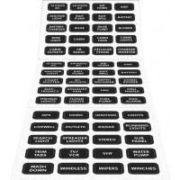 Blue Sea DC Panel Label Kit w/ 60 Common DC Labels