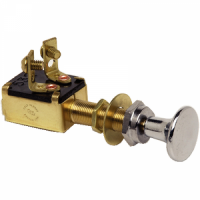 Cole Hersee Pull Switch Momentary - Chrome Knob