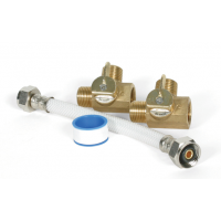 "Camco By-Pass Kit 1/2"" Permanent Includes 2 Valves & Hose"