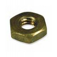 "Brass Shaft Nut - Jam 1-1/8"" x 7 for 1-1/2"" Shaft"