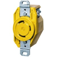 Hubbell 30 Amp 125 V Ship to Shore Single Receptacle
