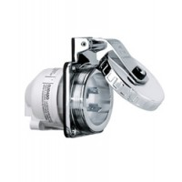Hubbell 30 Amp 125 V Shore Power Inlet Stainless Steel