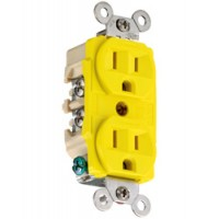Hubbell 15 Amp 125 V Duplex Straight Blade Receptacle