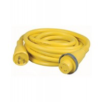 Hubbell 30 Amp 125 Volt Shore Power Cord 50 Foot Yellow