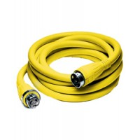 Hubbell 50 Amp 125/250 V Shore Power Cord 50 Foot Yellow