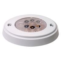 Oval White LED Push Lens Cabin Light White Case