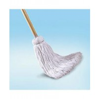 Cotton Deck Mop w/ Wooden Handle - 20 Ounce