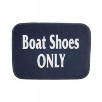 "Welcome Aboard Mat - 18"" X 24"" Blue - Boat Shoes Only"