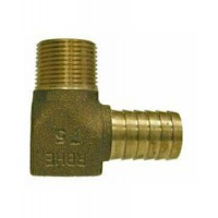 "Midland Adapter Elbow, Bronze 3/4 MPT X 1"" Barb"