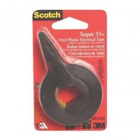 "3M Electrical Tape Black 3/4"" X 12.5 Yards"