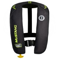 Mustang Inflatable Life Vest - Black/Yellow