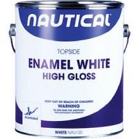Nautical Enamel Topside Paint White Gallon Gloss