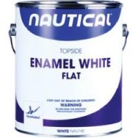 Nautical Enamel Topside Paint White Gallon Flat
