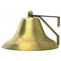 """Perko Fog Bell Plain Brass 6"""" Base Diameter"""