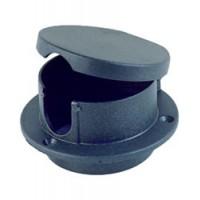 Perko Rope Deck Pipe Black Plastic
