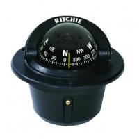 Ritchie F-50 Black Explorer Compass Flush Mount