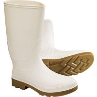 "Servus White Knee Boots 12"" High"