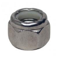 "Stainless Steel Lock Nut Fine Thread - 3/8""-24"