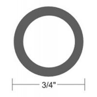 "Taco Insert Flexible Vinyl Black - 3/4"" Dia - 50' Length"