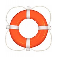 "Taylor Ring Buoy Orange 30"" Dia Life Saver Type IV"