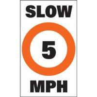 """Taylor Sur-Mark Buoy Labels Slow 5 MPH, 13"""" x 24"""""""