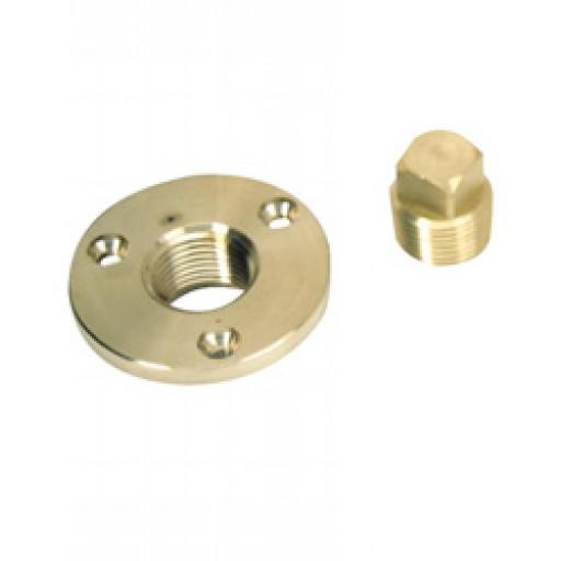 "Perko Garboard Drain Plug 1//2/"" Pipe w// Backing Plate"