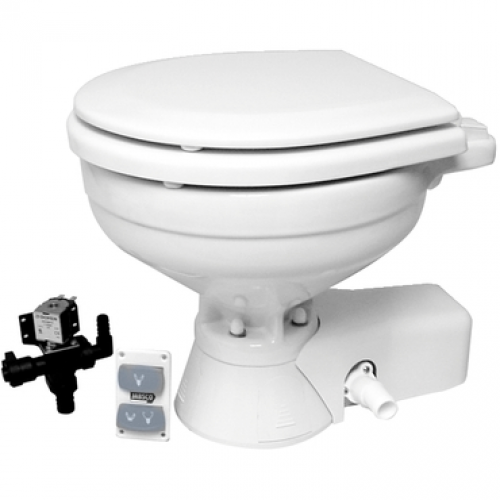 Jabsco Electric Toilet Quiet Flush Compact Bowl