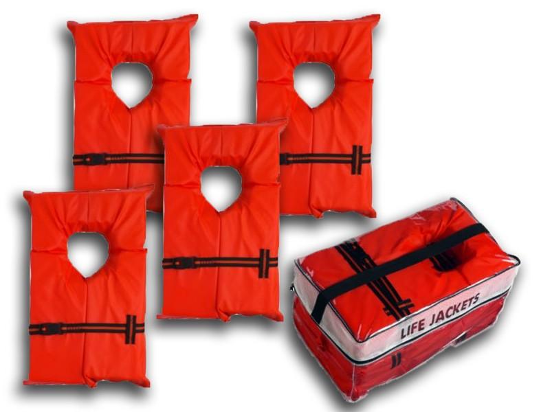 Kent Life Vest Combo Pack 4 Adult Vests U0026 Storage Case