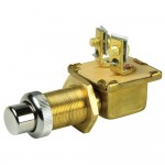 BEP Moisture Sealed Push Button Switch With Wire Leads, 2 Position - Off/(On)