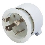 Hubbell 30 Amp 125 V Inlet Replacement Interior