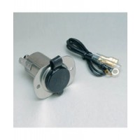 AFI Receptacle w/ Cap 12 Volt Stainless Steel