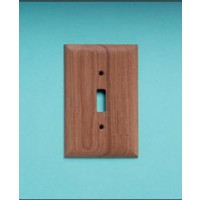 AFI Teak Switch Cover Two Pack