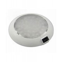 Aqua Signal Colombo White/Red LED Dome Light w White Housing