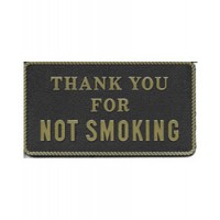 Bernard Engraving Plaque No Smoking - Black