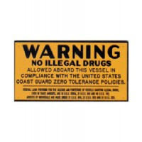 Bernard Engraving Plaque No Illegal Drugs
