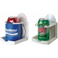 BoatMates Drink Holder Folding - Set of Two - White