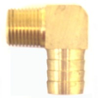 "Barr Hose Fitting 1/2""MNPT X 3/4"" 90 Degree Hose"
