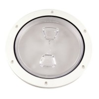 """Beckson Inspection Port / Deck Plate - 6"""" Screw Out - Clear"""