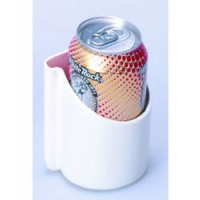 Beckson Air Horn / Drink Holder - Flexible PVC - White