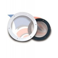 "Beckson Round Fixed Port 6"" Body - Clear Lens"