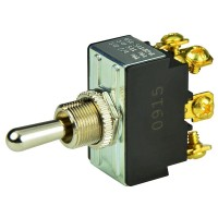 BEP Chrome Plated Toggle Switch - (On)/Off/(On)