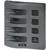 Blue Sea Fuse Panel 4 Position WeatherDeck - Gray