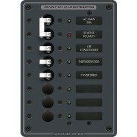 Blue Sea Circuit Breaker Panel AC Main + 6 Position