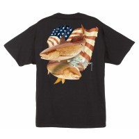 Aftco T-Shirt Stars & Stripes Black